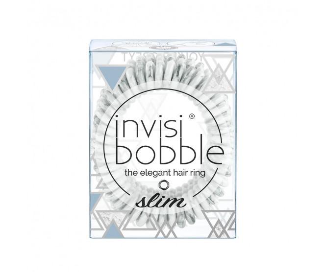 Invisibobble Slim gumička do vlasů You're Greyt - mramorová 3 ks