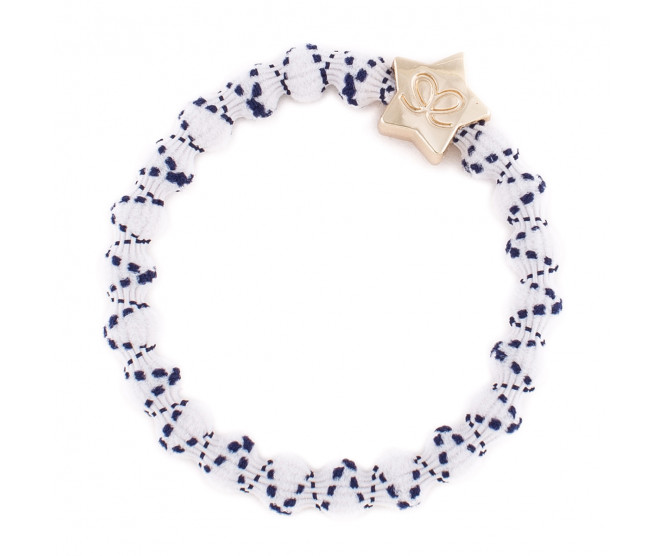 By Eloise London Gold Star Crisscross Navy and White