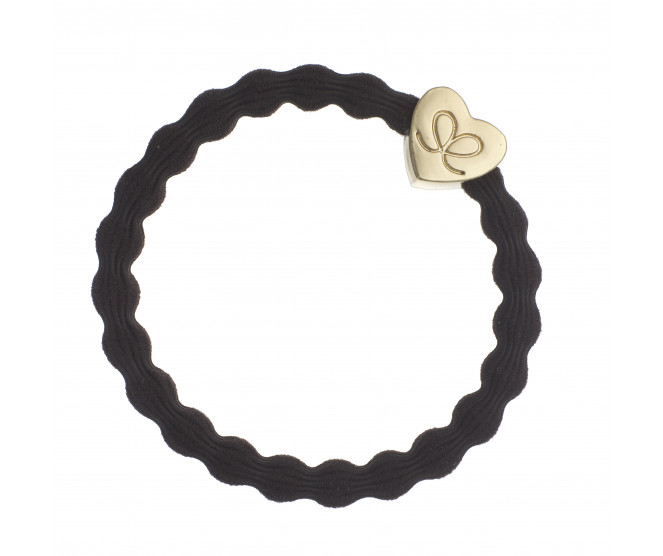 By Eloise London Gold Heart Chocolate Brown