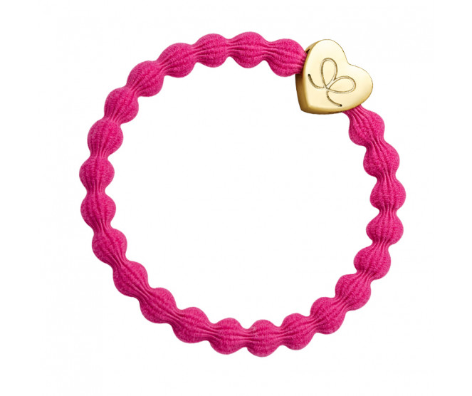 By Eloise London Gold Heart Fuchsia