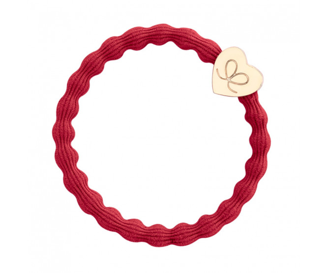 By Eloise London Gold Heart Cherry Red