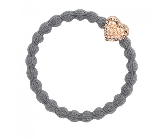 By Eloise London Rose Gold Bling Heart Storm Grey