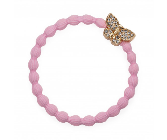By Eloise London Gold Bling Butterfly Soft Pink