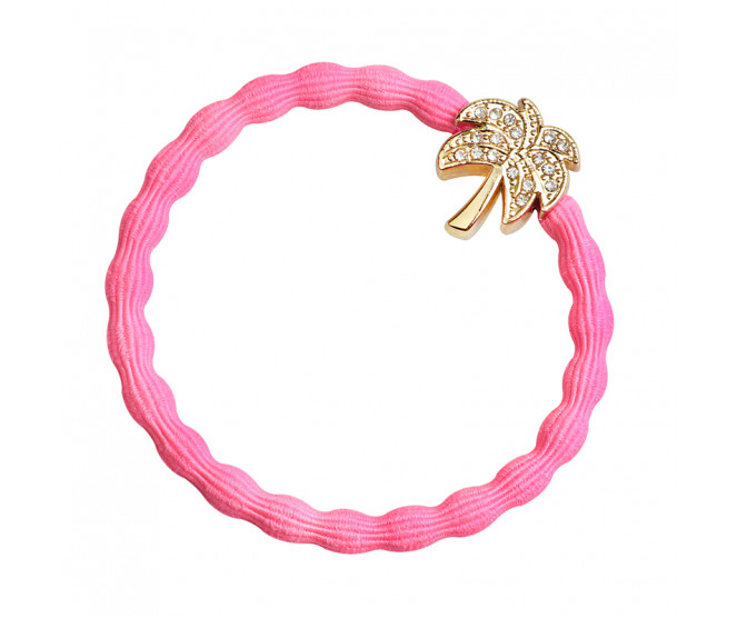 By Eloise London Gold Bling Palm Tree Neon Pink