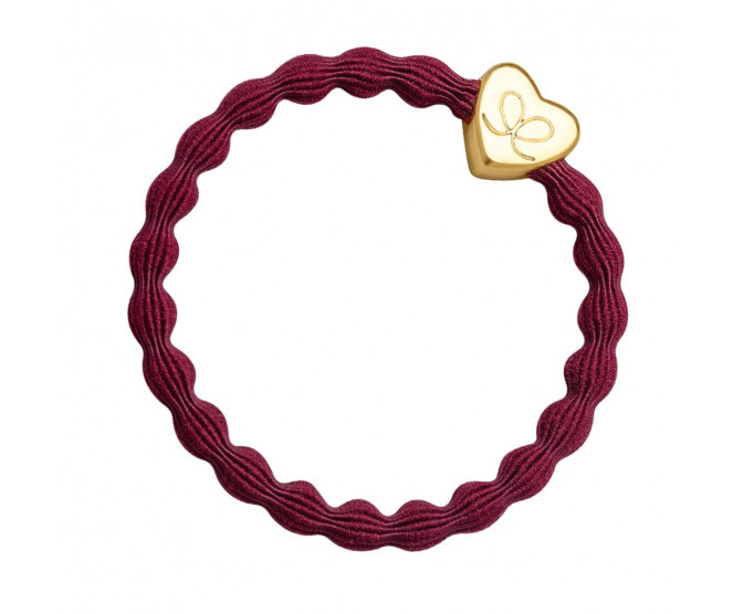 By Eloise London Gold Heart Burgundy Red
