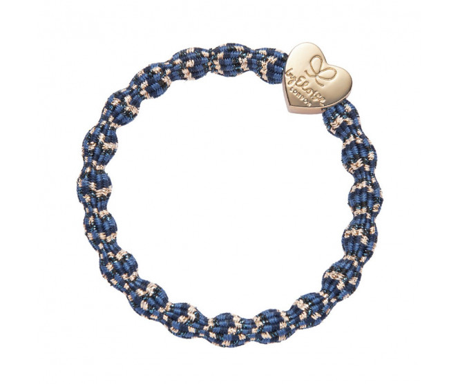 By Eloise London Metallic Gold Heart Blueberry