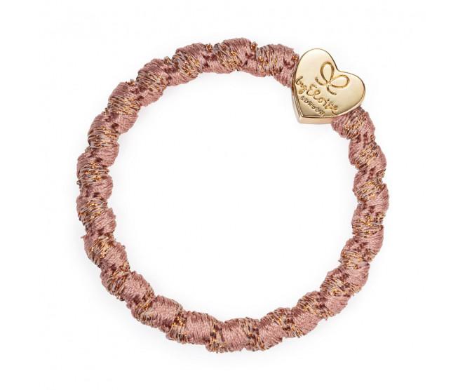 By Eloise London Gold Heart Woven Rosé