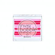 Invisibobble BASIC gumička do vlasů Jelly Twist - červená a růžová 10 ks