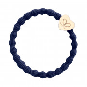 By Eloise London Gold Heart Navy Blue