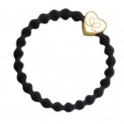 By Eloise London Gold Heart Black
