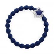 By Eloise London Enamel Silver Star Navy Blue